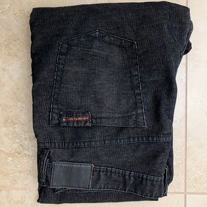 Halsey black cord jeans from Fred Segal 38